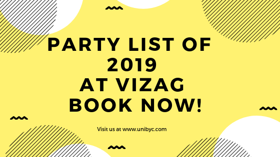 Party list of 2019 at Vizag_ Book Your Tickets now