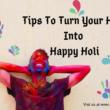 TIPS FOR HOLI FESTIVAL